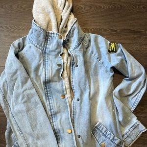 Dual jean and cotton jacket